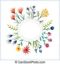 floreale, cornice, fondo