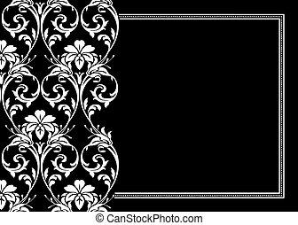 floreale, cornice, vettore
