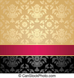 floreale, decorativo, seamless, modello