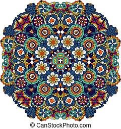 floreale, decorativo, stile, mandala, elemento