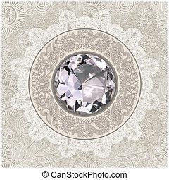 floreale, diamante, gioiello, fondo
