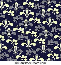 floreale, elegante, seamless, fondo
