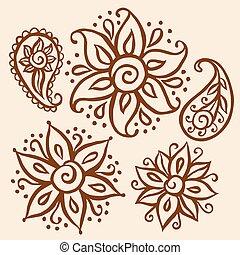floreale, elementi decorativi