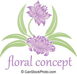 floreale, fiore, icona