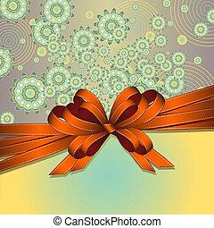 floreale, fondo, arco