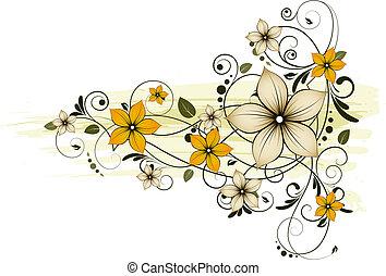 floreale, fondo., astratto