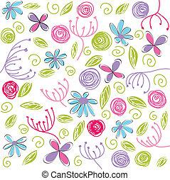 floreale, fondo, pasqua