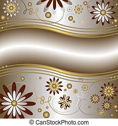 floreale, fondo, (vector)