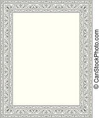 floreale, frame., sagoma