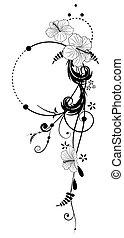 floreale, ibisco, fondo