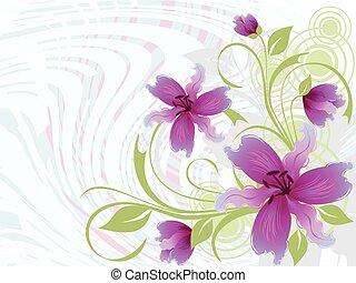 floreale, illustrazione, fondo