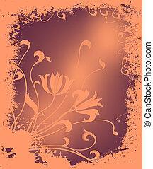 floreale, inverno, illustrazione