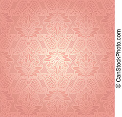 floreale, laccio, fondo, rosa