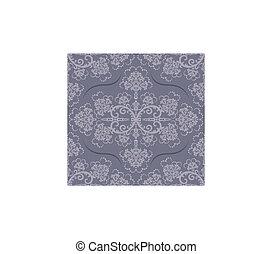 floreale, lusso, carta da parati, grigio, seamless
