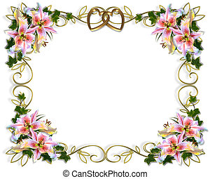 floreale, matrimonio, giglio, invito