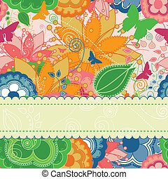 floreale, moderno, cartolina auguri