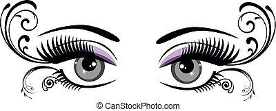floreale, occhi
