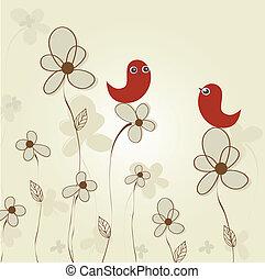 floreale, pasqua, colorito, fondo
