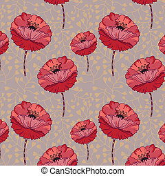 floreale, pattern., seamless