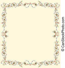 floreale, pergamena