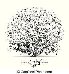 floreale, primavera, elementi