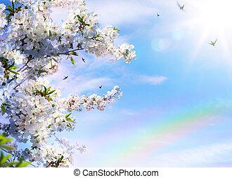 floreale, primavera, Estratto, fondo