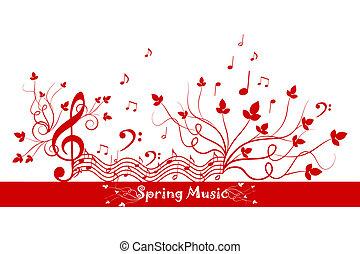 floreale, primavera, musica