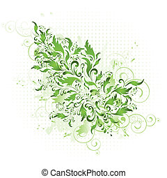 floreale, primavera, verde