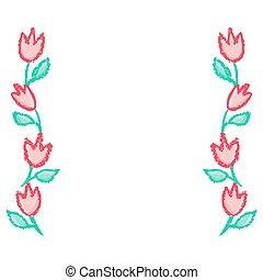 floreale, profili di fodera, cornice