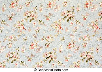 floreale, rosa, romantico, fondo, tappezzeria
