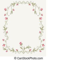 floreale, rose, cornice