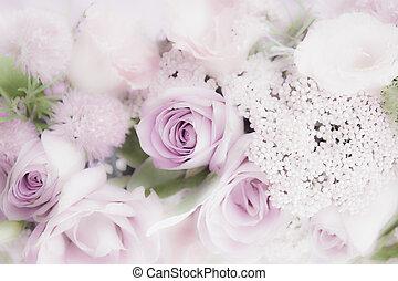 floreale, rose, matrimonio, disposizione