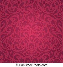 Oro carta da parati lusso floreale rosso wallpaper for Carta parati lusso