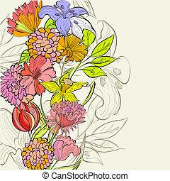 floreale, sagoma, scheda