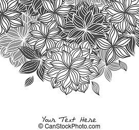 floreale, scarabocchiare, fondo