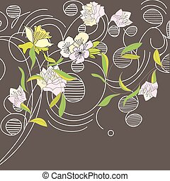 floreale, scheda, disegno