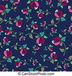 Rosa Modello Seamless Rose Sfondo Nero Floreale Rosa
