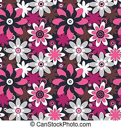 floreale, seamless, pattern., seamless, modello, lattina,...