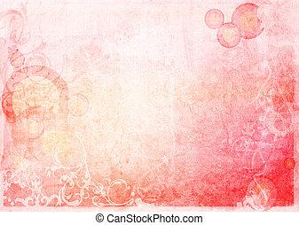 floreale, stile, tessuti sfondi, frame-with, spazio, per, tuo, disegno