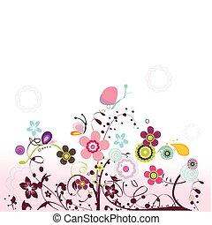 floreale, testo, disegno, posto, tuo