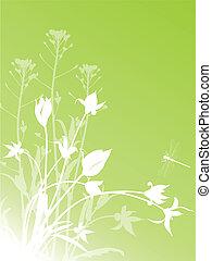 floreale, tulips, astratto, fondo