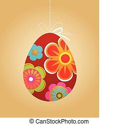 floreale, uovo di pasqua