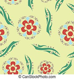 floreale, vendemmia, decorativo, pattern., elements.