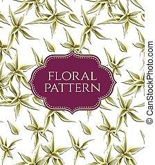 floreale, vendemmia, pattern., seamless, fondo