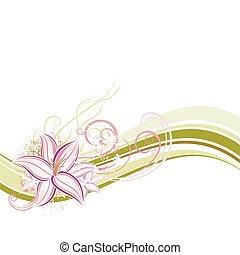 floreale, vettore, disegno