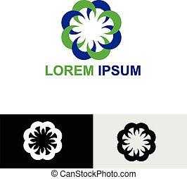 floreale, wellness, affari, logotipo, icona