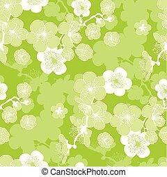 florecer, primavera, pattern., sakura, seamless