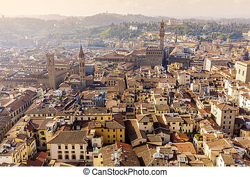 Florence - aerial view of the city