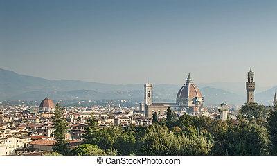 Florence City Center and the Duomo from Boboli Garden