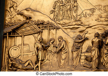 Florence - Baptistery , Panel of the Door of Paradise - The ...